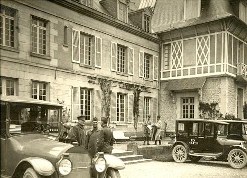 Montjavoult oise cpa chateau du bout du bois 1919