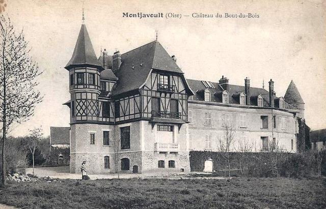 Montjavoult oise cpa chateau du bout du bois apres 1914