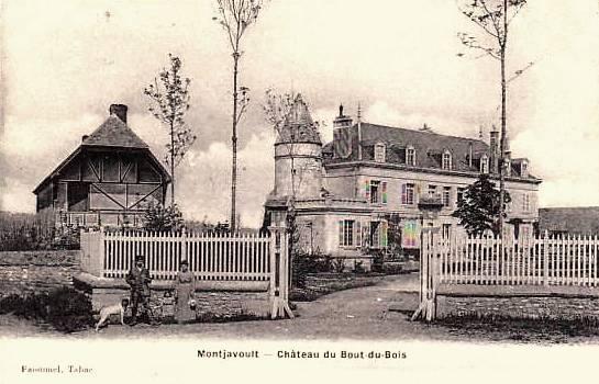 Montjavoult oise cpa chateau du bout du bois avant 1914