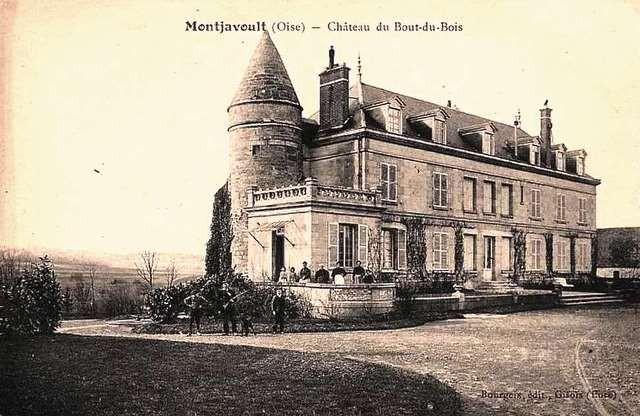 Montjavoult oise cpa chateau du bout du bois avant 1915
