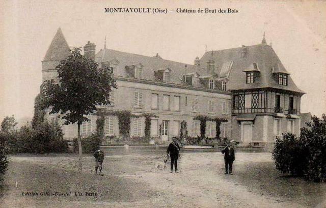 Montjavoult oise cpa chateau du bout du bois chasseurs