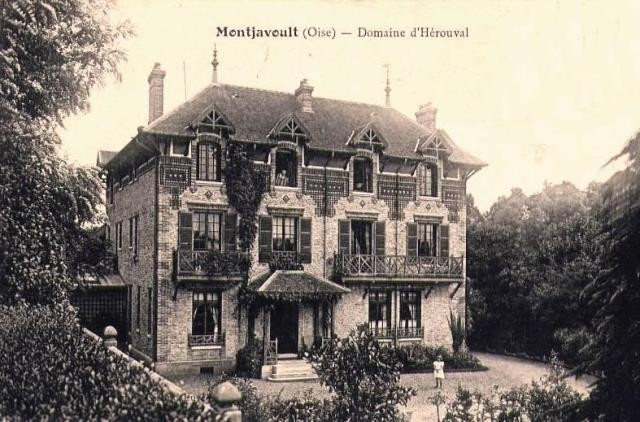 Montjavoult oise cpa herouval le domaine
