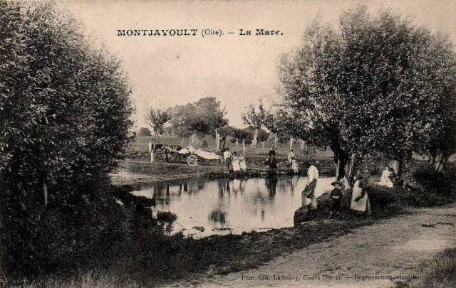 Montjavoult oise cpa mare