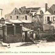 Montmédy (Meuse) 1870 - L'arsenal et le château du gouverneur