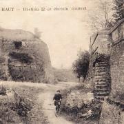 Montmédy (Meuse) Le bastion et le chemin couvert CPA