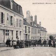 Montmirail (51) L'avenue de la gare CPA