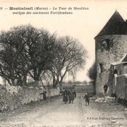 Montmirail (51) La tour de Montléan CPA