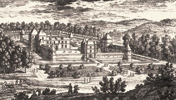 Montmirail (51) Le château de Tigecourt, gravure