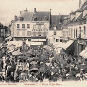 Montmirail (51) Le marché CPA