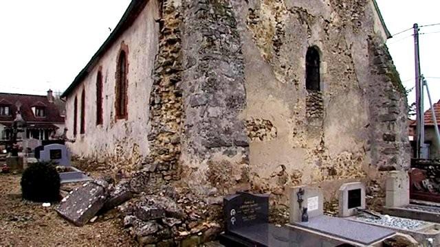 Montmirail (51) Maclaunay, l'église Saint-Laurent