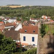 Montreuil pas de calais la ville basse vue des remparts