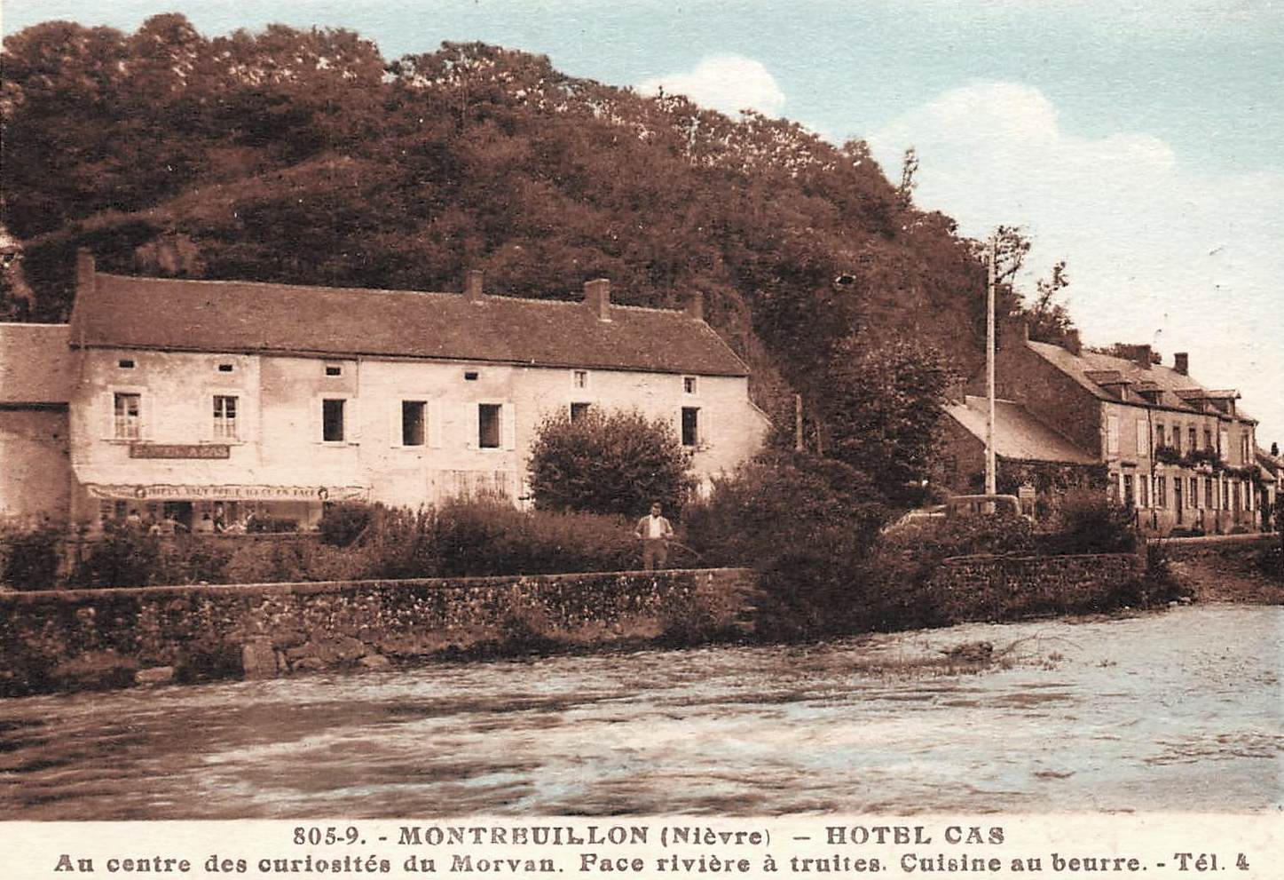 Montreuillon (Nièvre) L'Hôtel Cas CPA