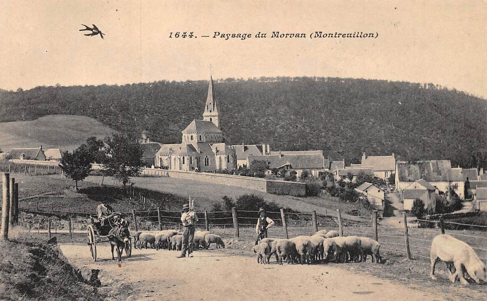 Montreuillon (Nièvre) Vue générale CPA