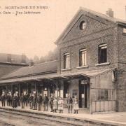 Mortagne du nord 59 la gare cpa