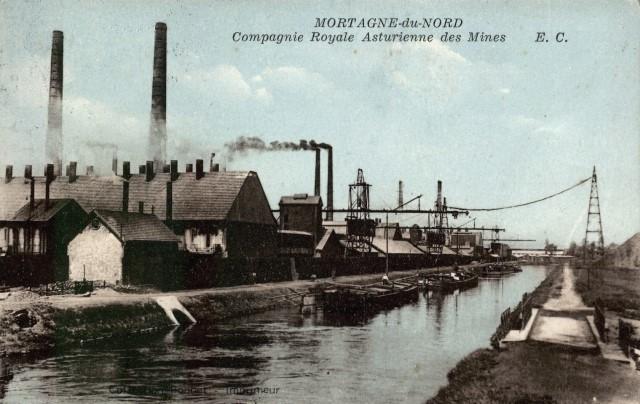 Mortagne du nord 59 l'usine metallurgique cpa