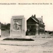 Mortagne du nord 59 le monument aux morts cpa