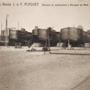 Mortagne du nord 59 les chantiers navals plaquet cpa