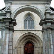 Moûtiers (Savoie) La cathédrale Saint-Pierre, portail baroque