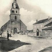 Mouzay (Meuse) L'église et le presbytère CPA