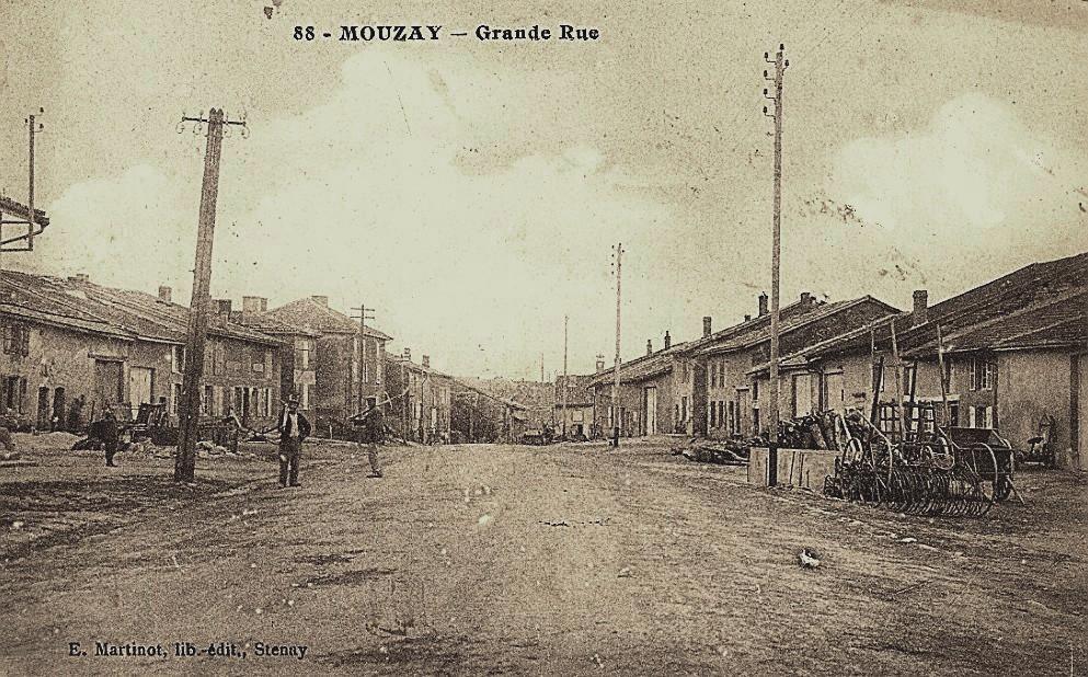 Mouzay (Meuse) La Grande Rue CPA