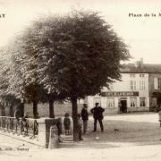 Mouzay (Meuse) Le café CPA