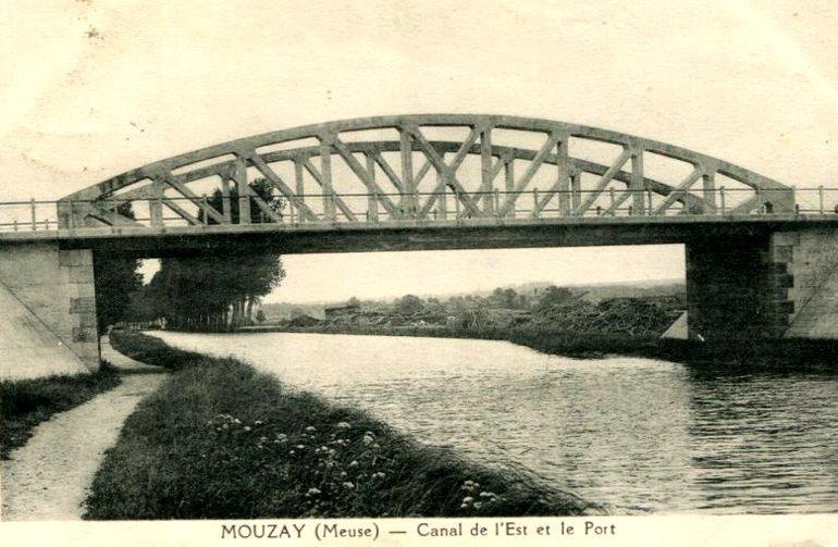 Mouzay (Meuse) Le canal CPA