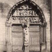 Mouzon (08) Abbatiale Notre-Dame, le portail CPA