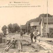 Mouzon (08) Gare en 1918 CPA