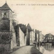 Mouzon (08) Remparts et canal CPA