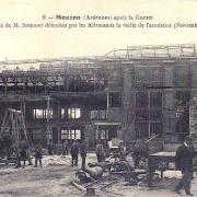 Mouzon (08) Usines Sommer 1918 CPA