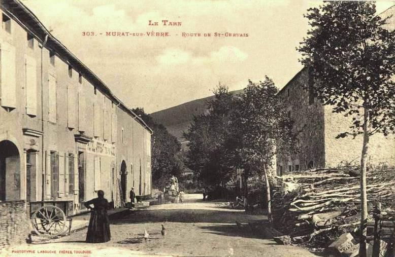 Murat-sur-Vèbre (Tarn) CPA Avenue de Saint Gervais