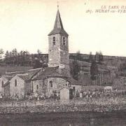 Murat-sur-Vèbre (Tarn) CPA Eglise et cimetière