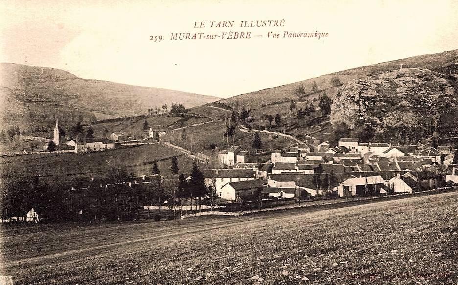 Murat-sur-Vèbre (Tarn) CPA Vue générale