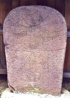 Murat-sur-Vèbre (Tarn) Statue-menhir du moulin de Louat