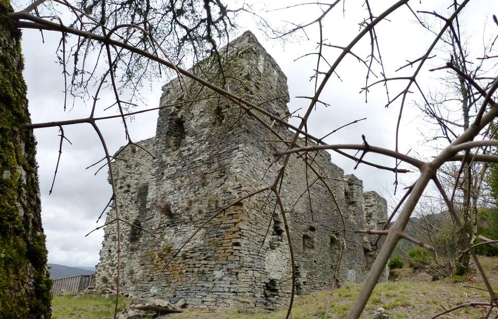 Murat-sur-Vèbre (Tarn) Vestiges du château de Canac