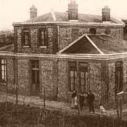 Neuville bosc oise mairie ecole en 1900 cpa