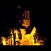 Neuville bosc oise eglise la nuit
