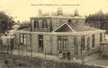 Neuville bosc oise l ecole en 1900 cpa