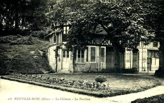 Neuville bosc oise le chateau pavillon cpa