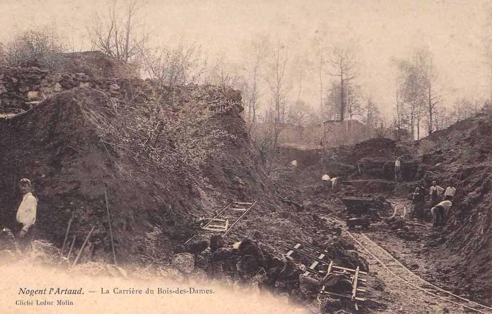 Nogent l'Artaud (Aisne) CPA Carrière du Bois des Dames
