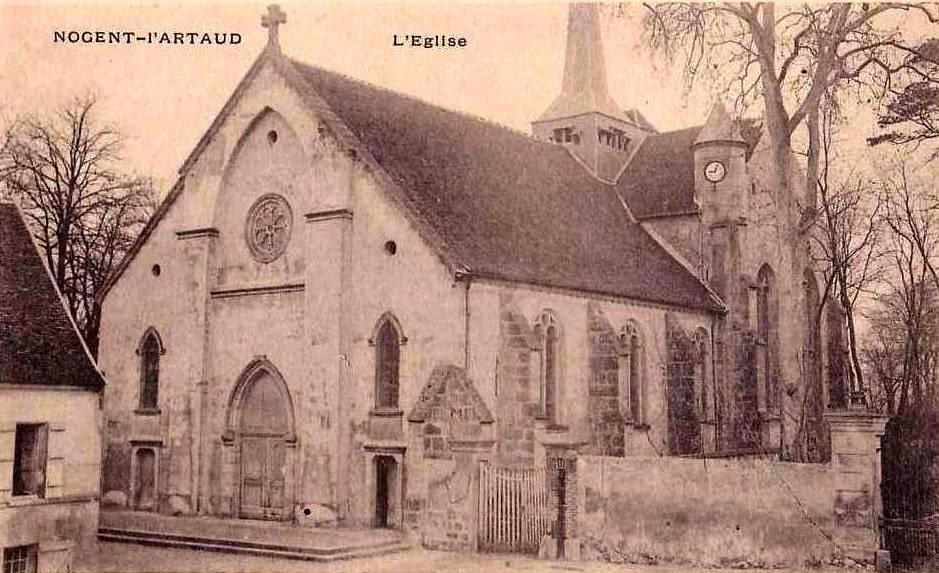 Nogent l'Artaud (Aisne) CPA Eglise Saint Germain
