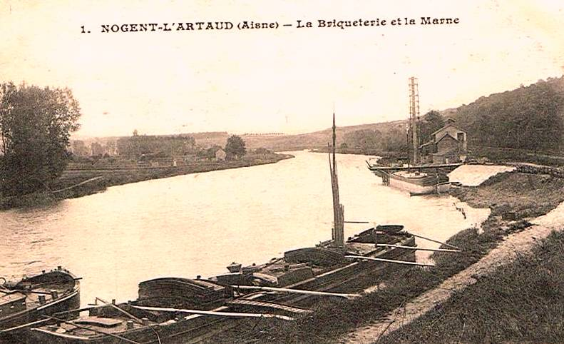 Nogent l'Artaud (Aisne) CPA Briquetterie