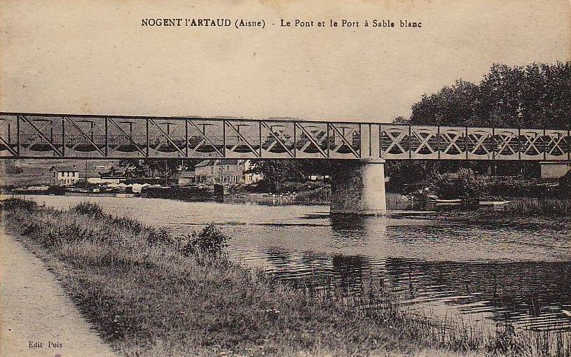Nogent l'Artaud (Aisne) CPA Port et pont