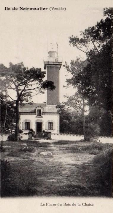 Noirmoutier-en-l'Ile (Vendée) Bois de la Chaise, le phare vers 1905