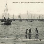 Noirmoutier-en-l'île (Vendée) L'Herbaudière, la plage CPA