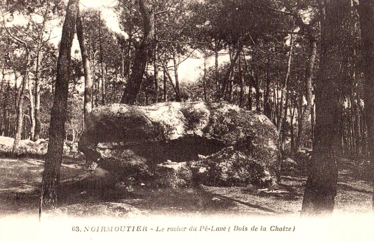 Noirmoutier-en-l'Ile (Vendée) Le rocher du Pélavé CPA