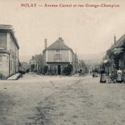 Nolay (Côte d'Or) L'avenue Carnot CPA