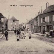 Nolay (Côte d'Or) La rue Grange-champion CPA