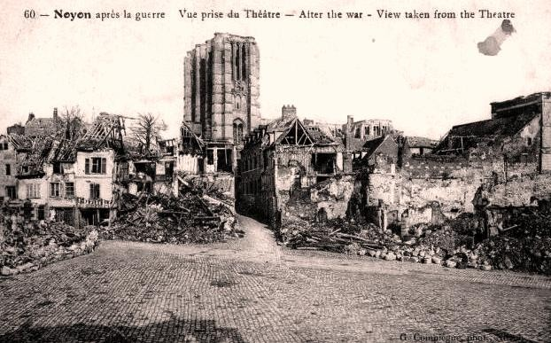 Noyon oise cpa 1914 1918 cathedrale