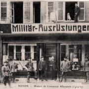 Noyon oise cpa 1914 1918 commerce allemand